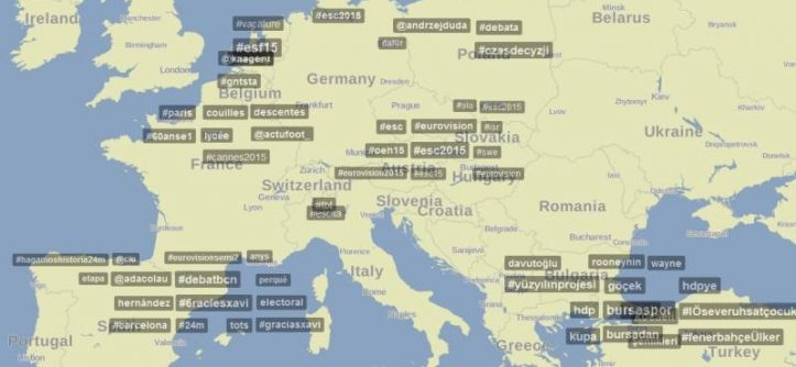 mappa geografica twitter